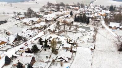 Foto z dronu - sídla, vesnice i města