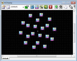 E-Prime visual search display