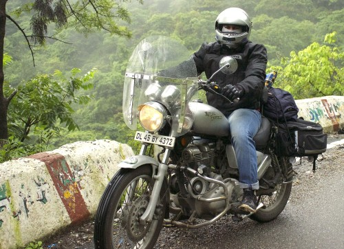 Lalit and his Royal Enfield Thunderstorm 350 Bike