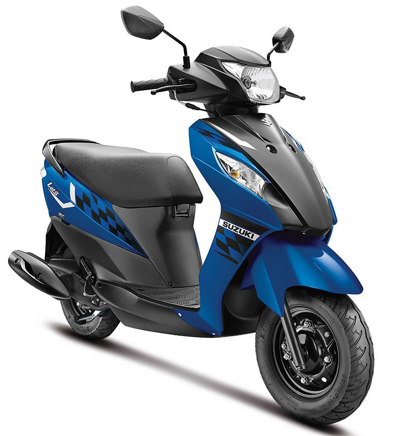 SUZUKI LET'S IN TRENDY NEW DUAL-TONE COLOURS BLUE