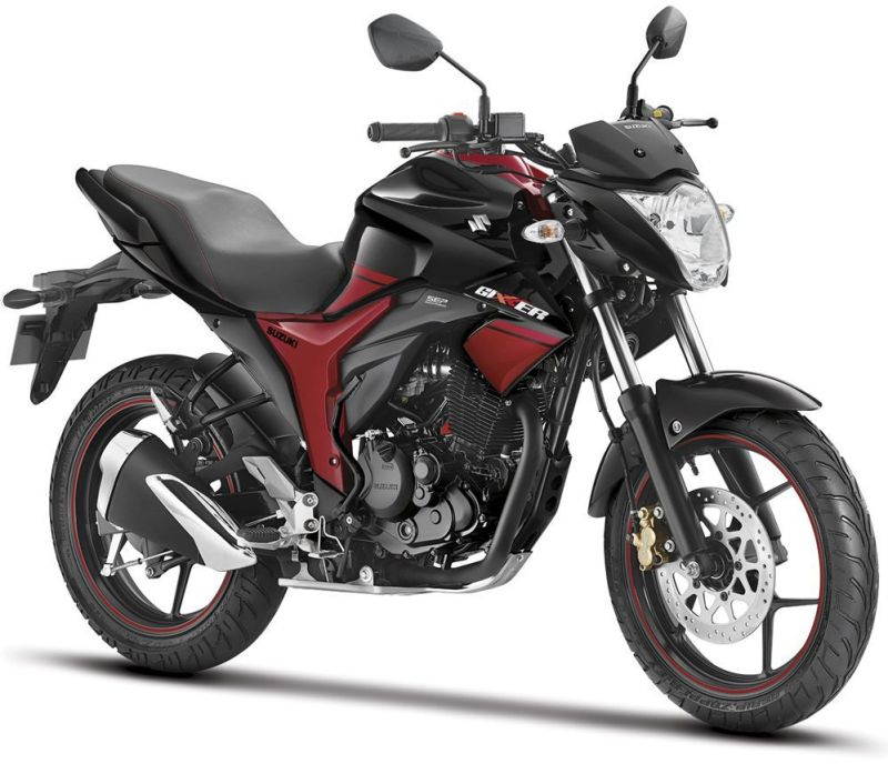 Suzuki Gixxer Dual Tone Black and Red