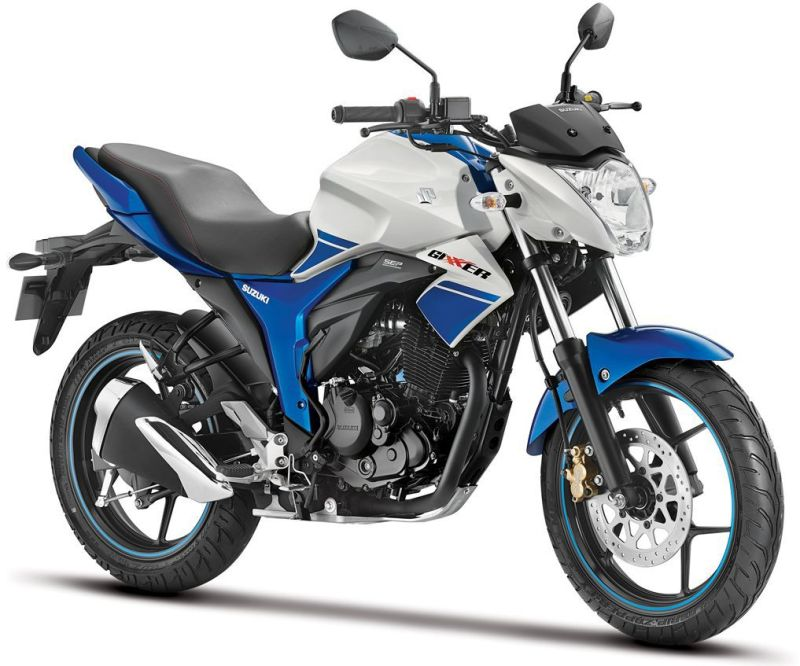 Suzuki Gixxer Dual Tone White and Blue