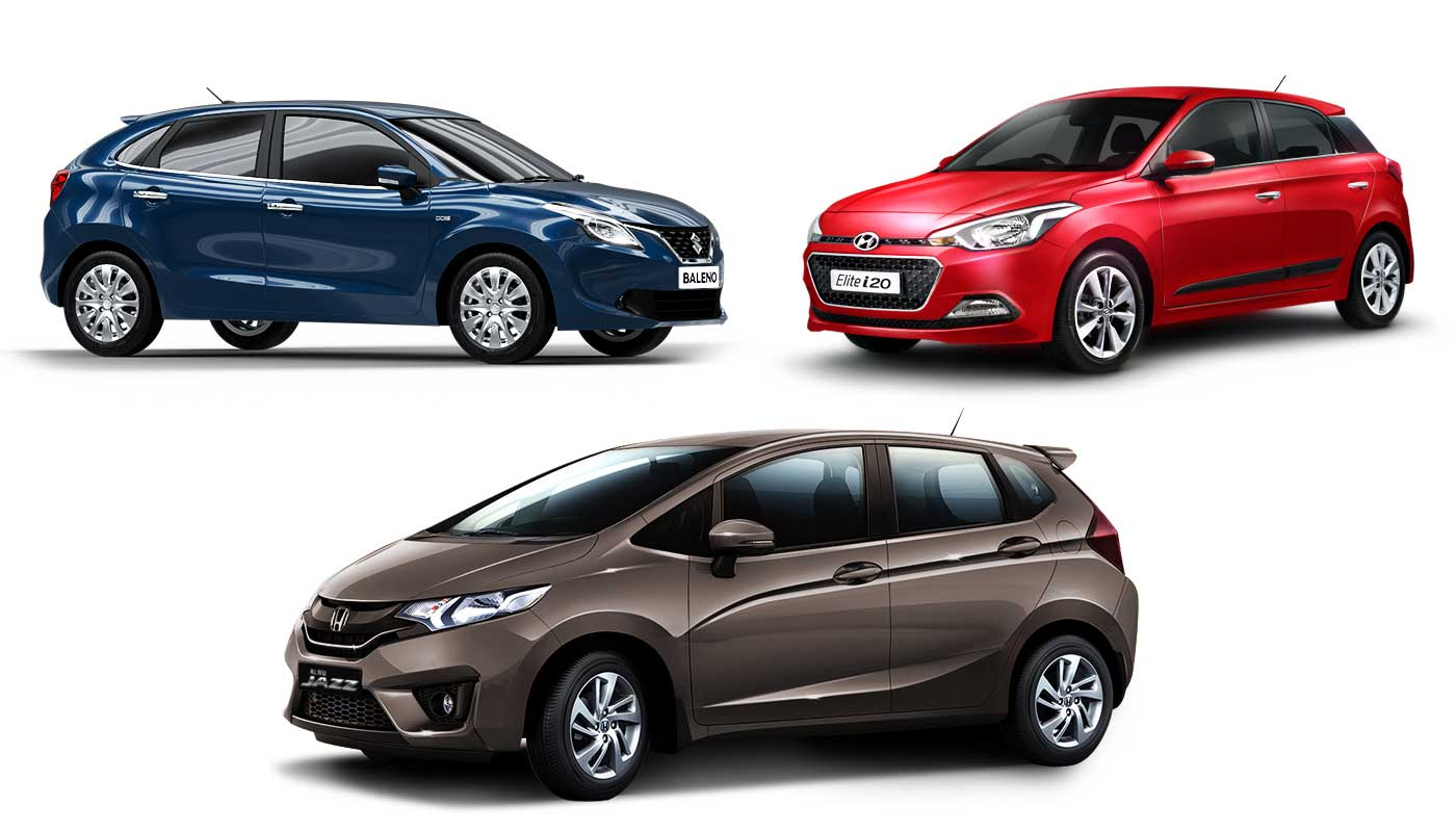 All Types baleno car images : Suzuki Baleno vs Hyundai Elite i20 vs Honda Jazz