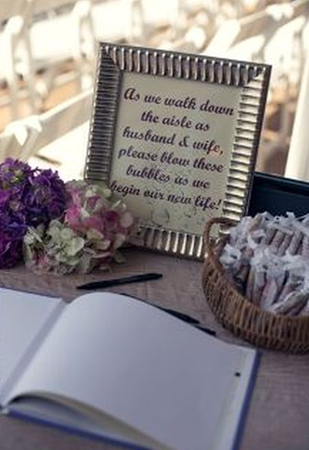 Display How Wedding Bubbles