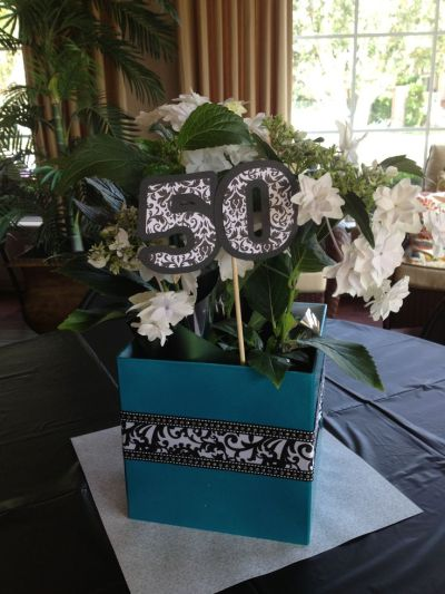 80th Birthday Party Centerpiece Ideas
