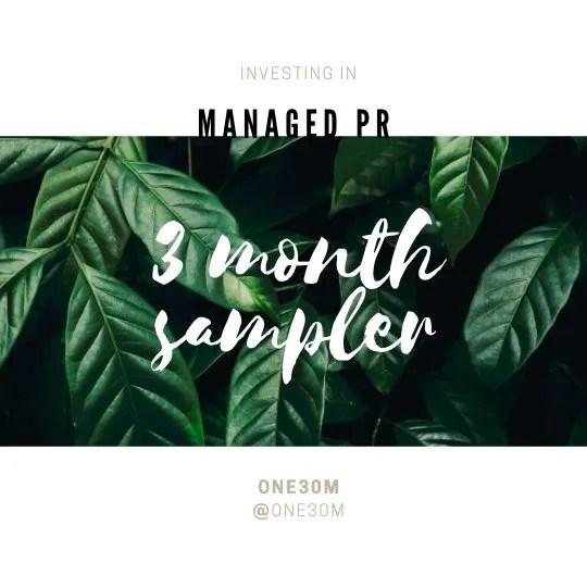 Managed PR Service ONE30M