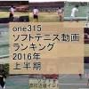 ソフトテニスone315動画ランキング 2016年上半期
