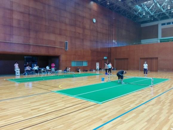 八幡バウンドテニスクラブにて。