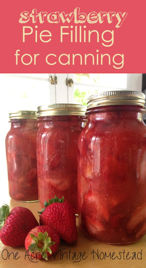 Strawberry Pie Filling for Canning