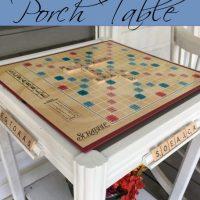 Scrabble Board Porch Table