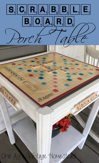 scrabble game table