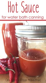 hot sauce for water bath canning