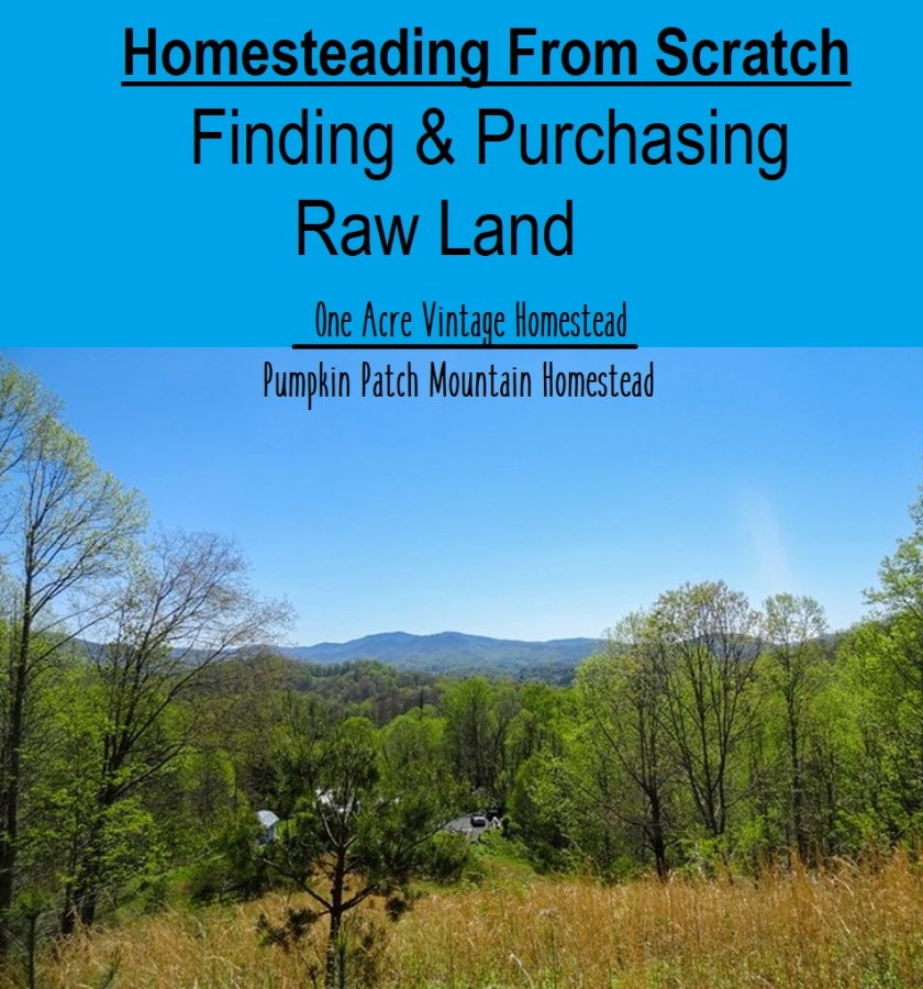 purchasing raw land