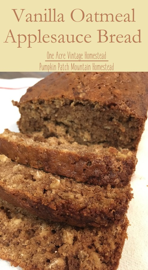 oatmeal applesauce bread