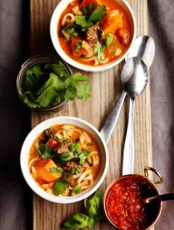 Thai Beef Curry Noodle Soup
