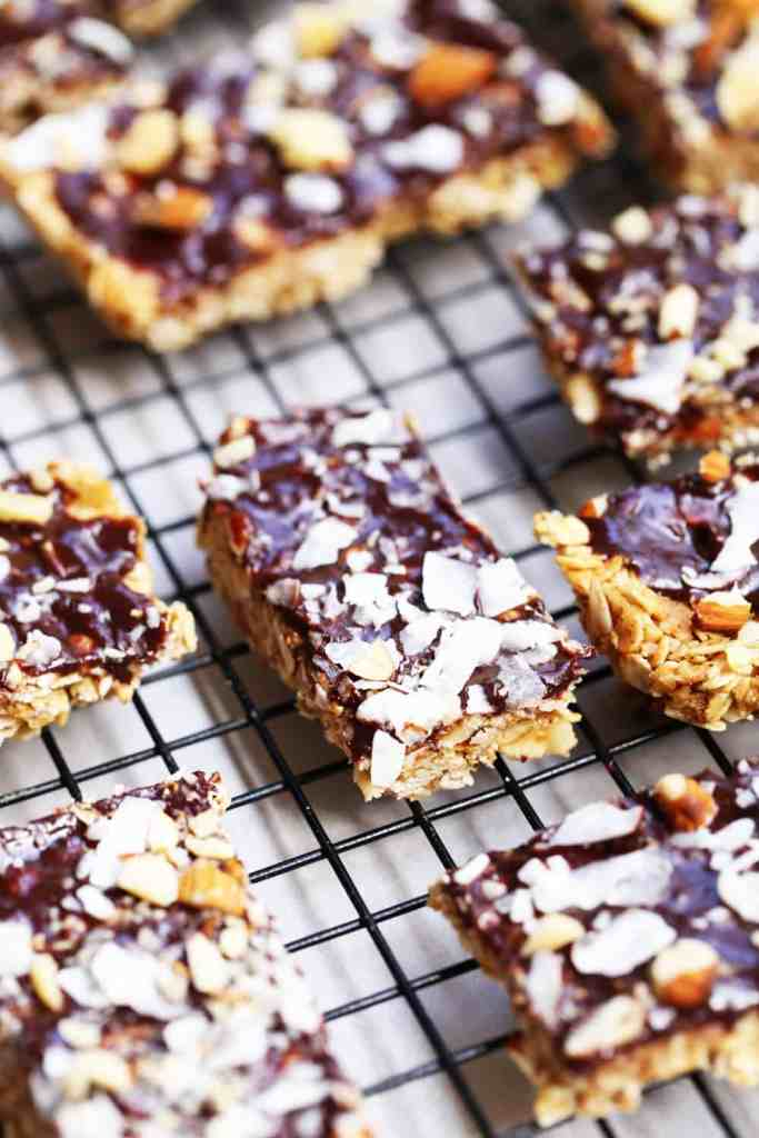 No bake chewy chocolate granola bars one armed mama really push as hard as you can this pressure makes for a nice chewy granola bar that stays together rather than crumble solutioingenieria Choice Image