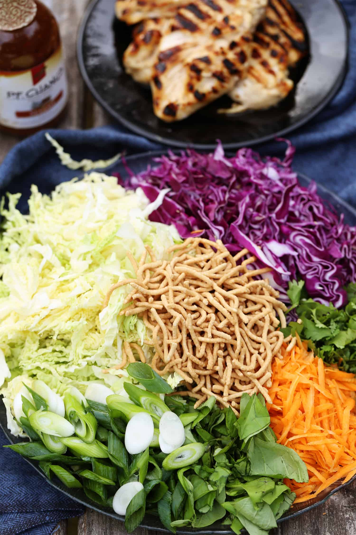 Easy Make Ahead Meal Grilled Sesame Chicken Salad Chinese chicken salad recipe #grillingmadesimple #ad #collectivebias