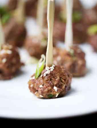 Sesame Soy Glazed Meatballs