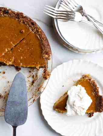 Gluten-Free Walnut Crust Pumpkin Pie