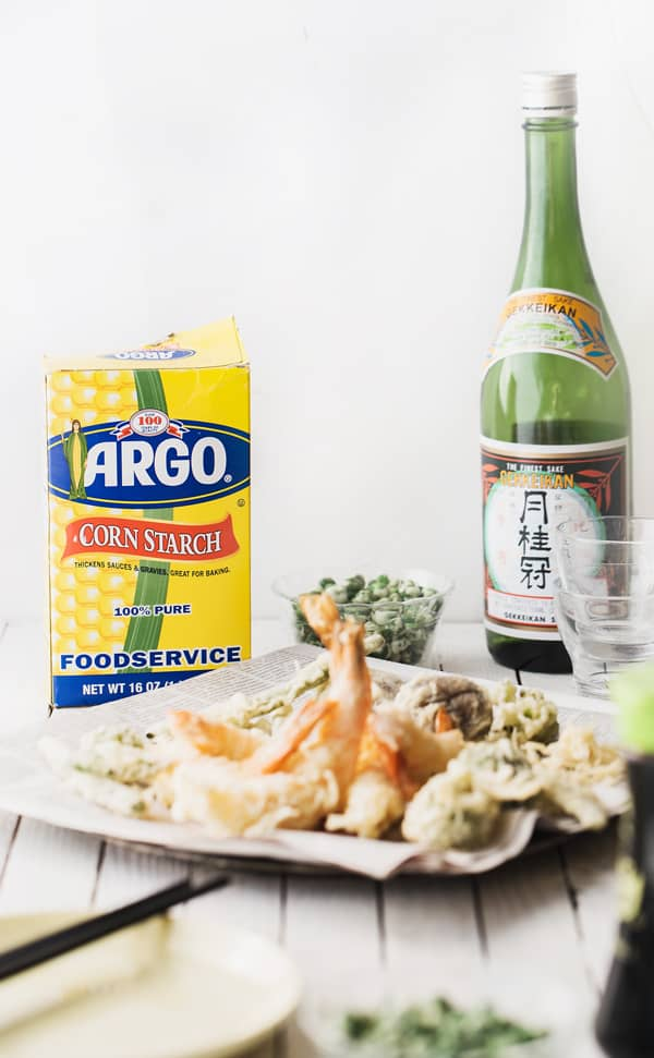 This fun Super Crispy Shrimp + Vegetable Tempura Night is a great way to create a delicious spread whether you're serving two for a date night or a crowd for a party! tempura vegetables | tempura | party food ideas| tempura recipe for a crowd | date night in | best crispy tempura batter #ad