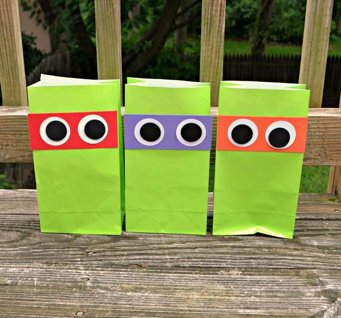 Bolsas para chuches de las Tortugas Ninja DIY