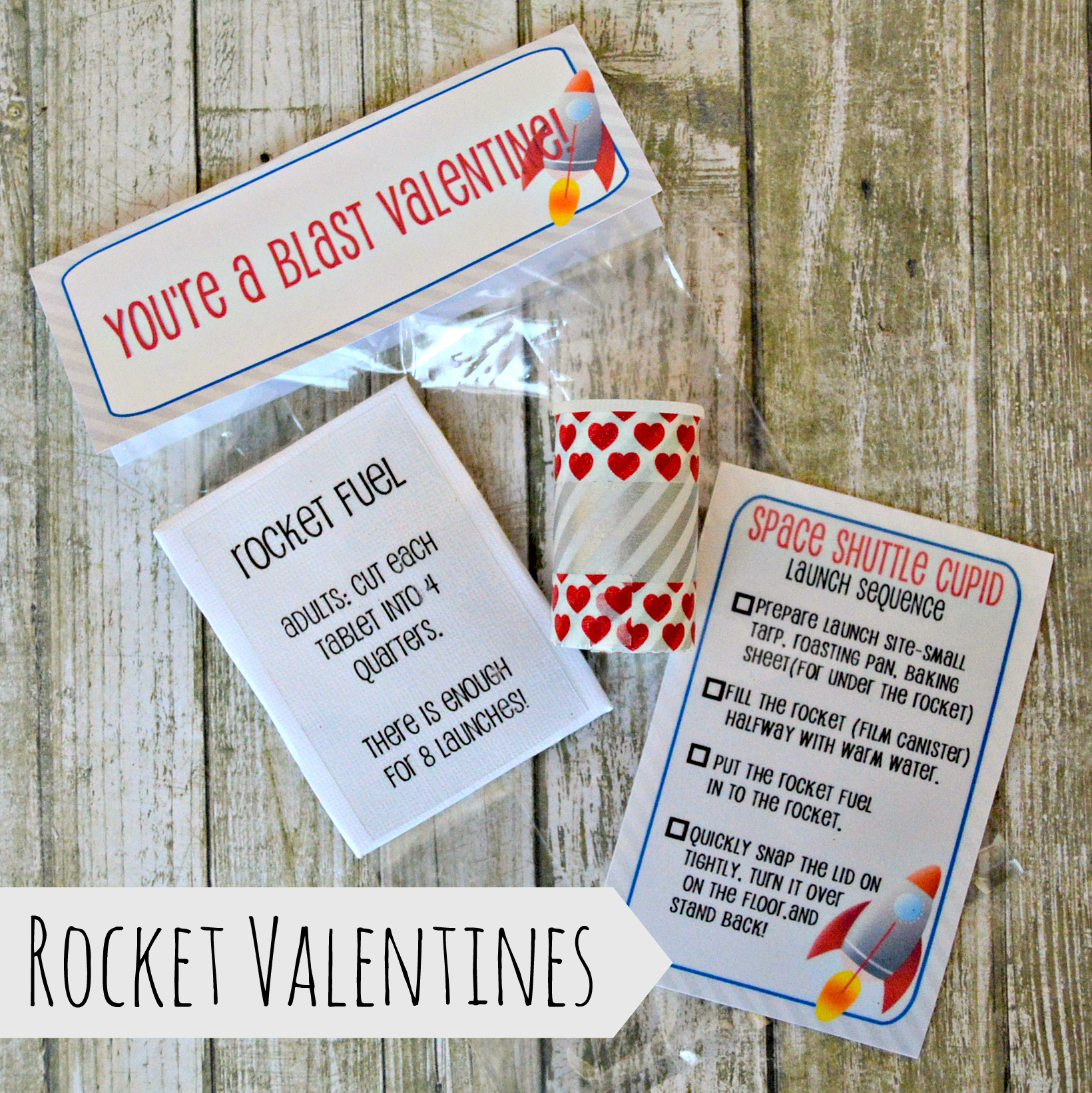 Rocket Valentines With Free Printables One Artsy Mama