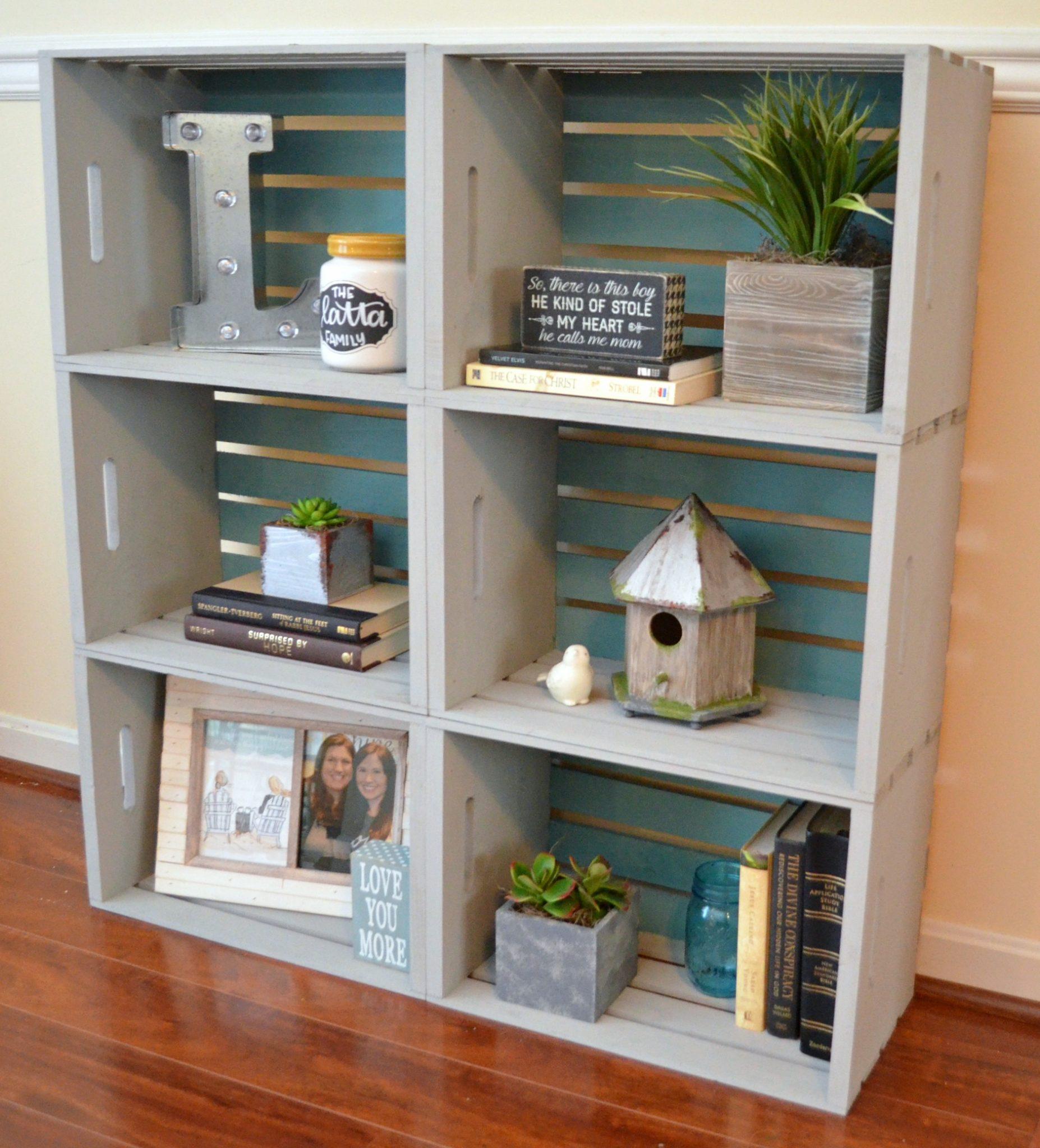 diy crate bookcase - amy latta creations