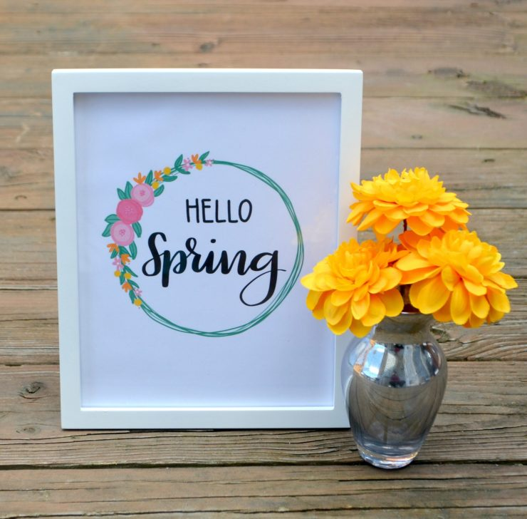 Hello Spring Printable at Amy Latta Creations