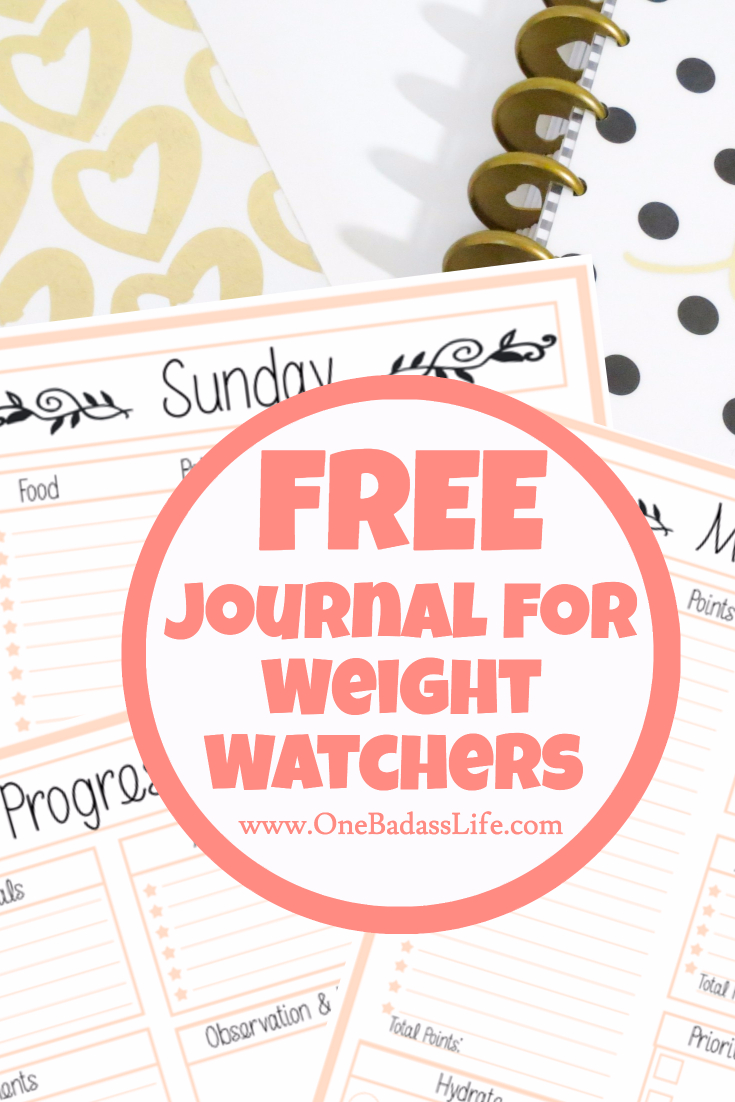 photograph relating to Printable Weight Watchers Journal known as Totally free Excess weight Watchers Tracker - Printable Magazine For Bodyweight