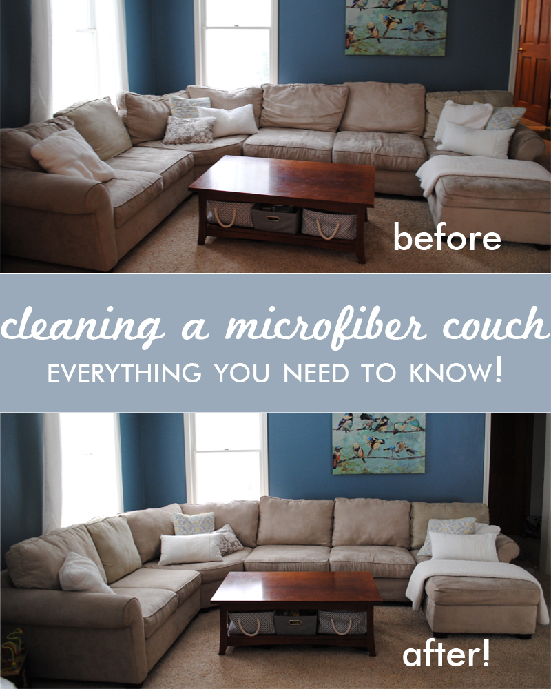 Cleaning A Microfiber Couch Before And After