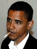 Barry smoking