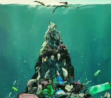 one brown planet, mountain of waste