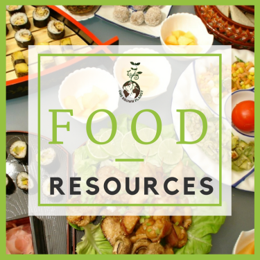Food heading, one brown planet, sustainable life