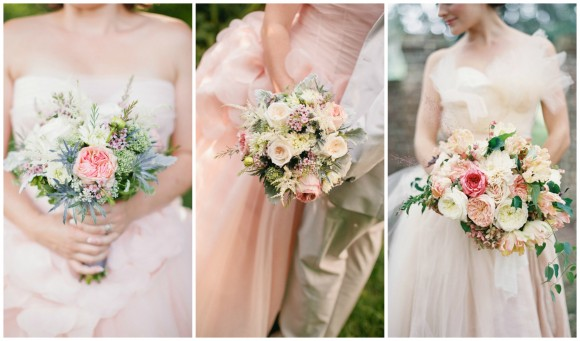 pale-pink-gowns-bouquet