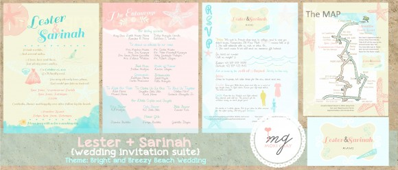 Bright and Breezy Beach Wedding Invitation