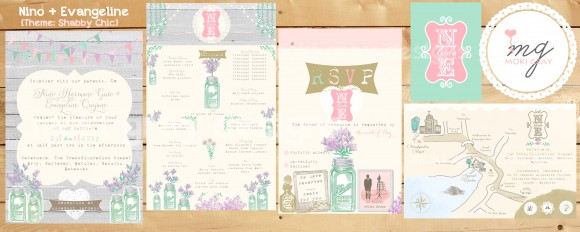 Shabby Chic Invitation Suite by Moki Gray