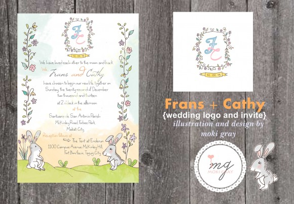 Wedding Logo and Invites by Moki Gray