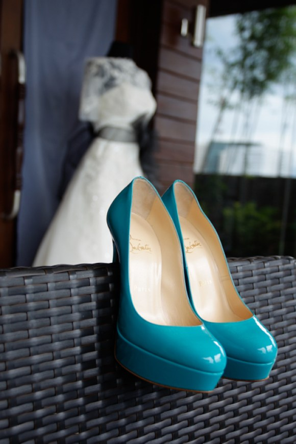 Aqua Christian Louboutin Shoes