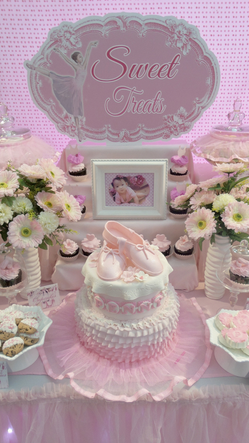 A Dreamy Pink Ballerina Themed Dessert Table One
