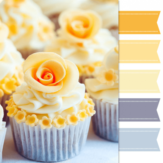 Pretty Color Palette Yellow Cupcake