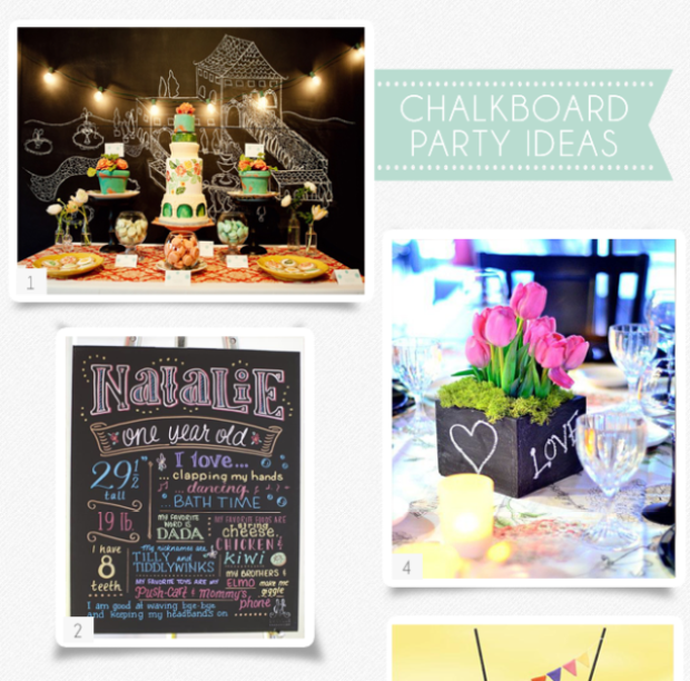 party ideas to love - chalkboard - tmb
