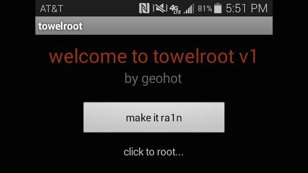 Image result for towelroot make it rain