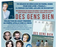 """EVENEMENT: Avant premières du film """"Des gens bien"""" les 24 et 25 mars à La rochelle, Cognac, Saintes, Rochefort et Royan"""