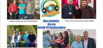 Voici en réécoute nos émissions de ce lundi 14 septembre avec Arnaud Ducret, Antoine de Maximy et Samuel Allain Abitbol