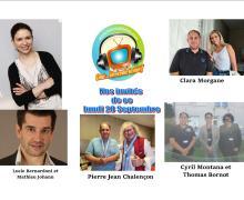 Voici nos podcasts de ce lundi 28 septembre avec Clara Morgane, Pierre Jean Chalençon, Cyril contre Goliath, Lucie Bernardoni et Mathieu Johann