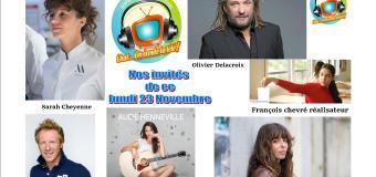 Voici nos podcasts de nos émissions Chut on écoute la télé de ce lundi 23 novembre avec Aude Henneville, Jérome Pitorin , Sarah Cheyenne, Olivier Delacroix et Julie Boulanger