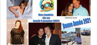 Voici nos émissions Chut on écoute la télé de ce lundi 4 janvier avec Fabienne Carat, Natacha Lindinger, Hélène Dégy, Olivier Marchal et Stefany Rydel