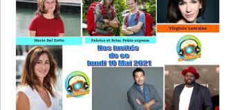 David Proux, Eléonore Bernheim, Virginie Lemoine, Marie Dal Zotto, Fabrice et Briac et Issa Doumbia ce lundi 10 mai dans Chut on écoute la télé
