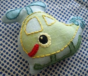 embroidered helicopter softie