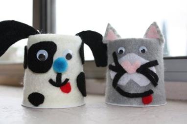 Yogurt Container Animals